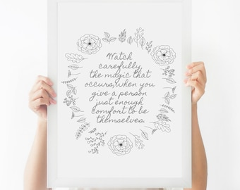 Atticus Quote || Printable Wall Art, Printable Quote, Downloadable Print