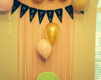 Happy Birthday Chalkboard Banner