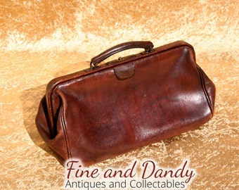 Small Leather Gladstone bag