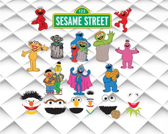 Sesame Street svg,png,jpg,eps for Print/ Silhouette Cameo/Cricut and Many More