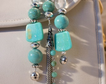 Turquoise Purse Charm