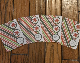 Happy Holidays Card set with matching envelopes