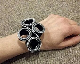 Zipper bracelet steampunk bracelet zipper jewelry steampunk jewelry zipper cuff bracelet steampunk cuff bracelet ideas gift for her