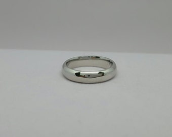 Sterling silver wedding band - Sterling silver wedding ring - Sterling silver band - Sterling silver ring - 4mm wedding band