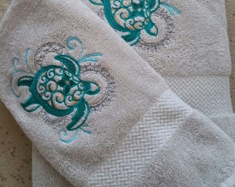 Sea Turtle Hand and Bath Towel