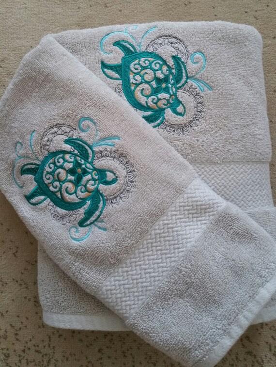 Sea Turtle Hand And Bath Towel