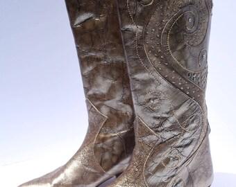 Vintage / Margaret Jerrold Leather Cowboy Boots