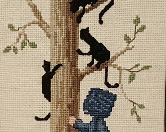 Cross Stitch,Complete Cross Stitch,Amish Cross Stitch,Finished Cross Stitch,Primitive Cross Stitch,Kitchen Decor,Living Room Decor,