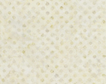 "SALE by the yard - 106"" Wide Quilt Backing Fabric - XTonga Cream Batik Backing by Timeless Treasures - Sold by 1 Yard"