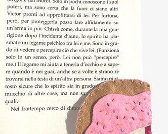 Bookmark bookmark, bookmark, Donut corner, corner bookmark bookmark, felt, felt food, Donuts