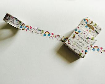 Cute fat unicorn washi tape
