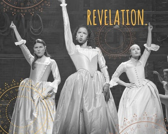 "Hamilton Inspired Fan Art, Printable Musical Poster ""You want a revolution, I want a revelation"", INSTANT DOWNLOAD"
