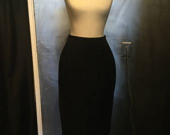 1980s high waisted suede midi skirt/biker skirt/leather skirt/high waisted/-S