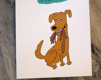 Dog with Squirrel Thank You Card