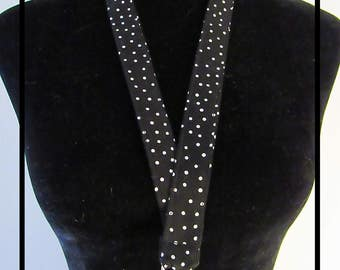 Polka dot Lanyard/polka dot/black lanyard/simple lanyard/woman's lanyard/badge holder