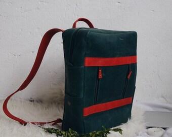 Leather rucksack, laptop backpack, notebook leather bag, women backpack purse, traveling backpack, school bag, bag leather, backpack purse