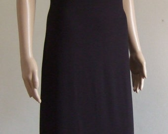 The sheath dress black length 120 cm, beautiful Black Jersey-short sleeved soft