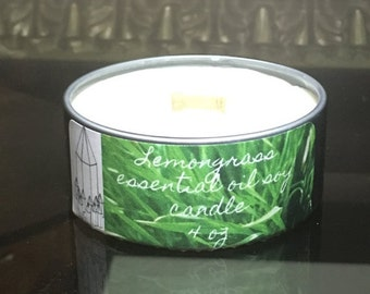 Lemongrass Essential Oil Soy Candle
