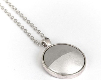 Concrete jewelry necklace silver