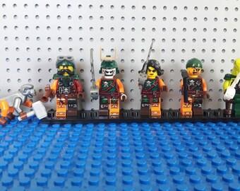 x6 Ninjago Minifigures - Custom Air Pirates Set - Lego Compatible - Cyren Doubloon Flintlocke Clancee Bucko Monkey Wretch