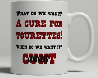 Cuss word coffee mug, c*nt mug, tourettes mug, swear word mug, curse word mug , crude mug, funny mug, mature mug, UK Mug Shop,  RM1008