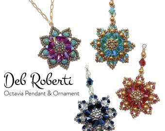 Octavia Pendant and Ornament beaded pattern tutorial by Deb Roberti