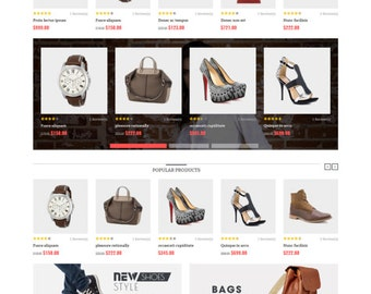 Magento Ecommerce Theme - Online Fashion Store - Ecommerce Website Design with free installation & 3 months free hosting