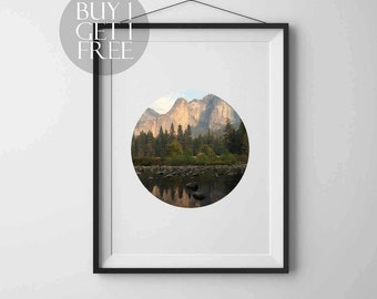 Forest print Circle print Forest Photography Instant download Printable art Wall art Nature poster Modern art