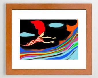 8 #Art #room, #Illustration, #Yellow, #Art #print #Colorful  #Europeanstreetteam