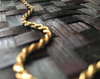Rope Chain Italian Milor Necklace / 925 Milor Necklace / Vintage Necklace / Princess Length Necklace