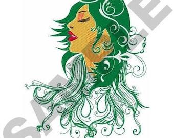 Beautiful Woman - Machine Embroidery Design