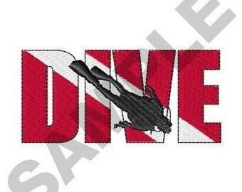 Dive - Machine Embroidery Design