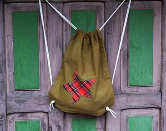 Backpack bag olive upcykling