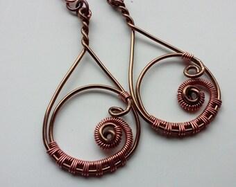 Wire Wrapped Steampunk Swirl Earrings