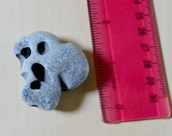 Hag Stone, Holey Stone, Adder stone, natural holed stone, beach stone, Celtic Sea