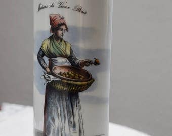 Vintage French Ceramic Wall Pocket Vase,  Vintage Hanging Radiator, Vintage Air Humidifier, Vintage French Pottery, Metiers du Vieux Paris
