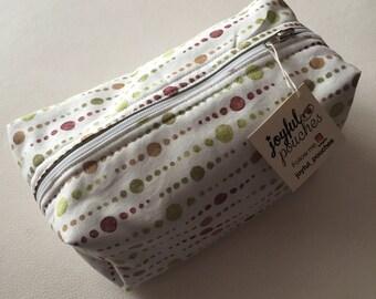 Fancy polka dot clutch. Large bag handbag.
