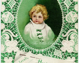 Ellen Clapsaddle Antique Postcard Baby Irish St. Patrick's Day