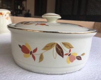 Hall Jewel Tea Autumn Leaf Bowl/Cover and Tin