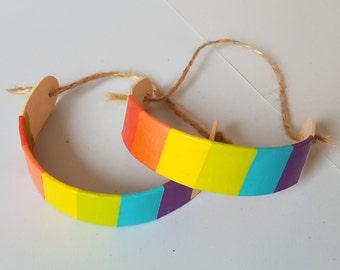 Handmade Rainbow Wooden Bracelet
