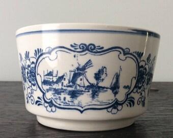 Delft Blau Planter / Made in Holland / Dutch / Dish / Delft / Windmills / Landscape / Indoor Planter Pot