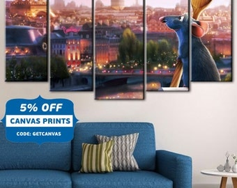 Ratatouille, REMY - Ratatouille, Disney canvas art, Ratatouille Clipart, Disney Pixar Digital, Disney Pixar canvas, Ratatouille wall art