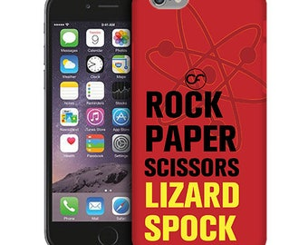 Rock Paper Scissors Big Bang Theory Phone Case for iPhone Cases, iPod Touch Cases, and Samsung Galaxy Cases