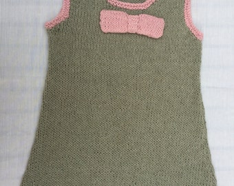 Girls Knitted Spring/Summer Cotton Dress available in size 1-5 years