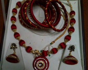 silk thread jewelry