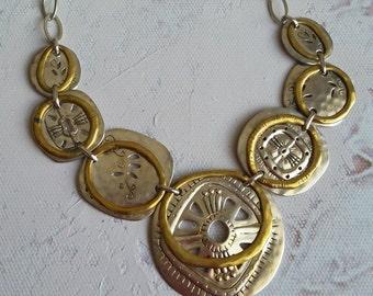 Silpada Boho Bib necklace and earrings set, Chic design!