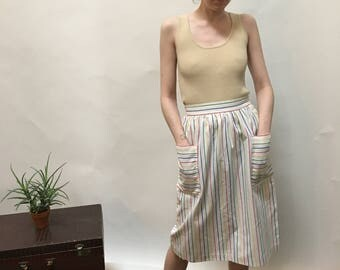 70's Striped Skirt