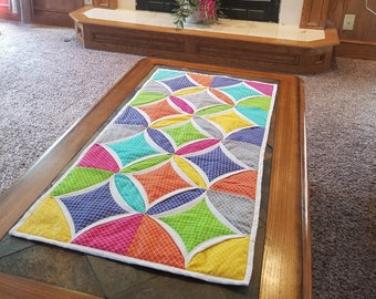 Cathedral Window Table Runner #1