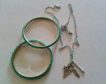 Native American Necklace and Bracelet set