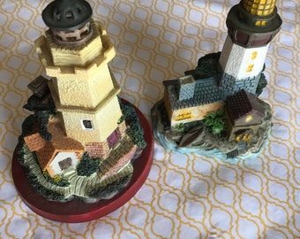 Set of 2 Resin Lighthouses